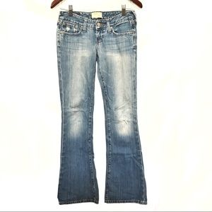 Abercrombie & Fitch light blue low rise jeans